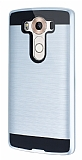 Eiroo Iron Shield LG V10 Ultra Koruma Silver Kılıf