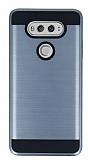 Eiroo Iron Shield LG V20 Ultra Koruma Dark Silver Kılıf