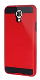 Eiroo Iron Shield LG X screen Ultra Koruma Kırmızı Kılıf