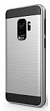 Eiroo Iron Shield Samsung Galaxy A8 Plus 2018 Ultra Koruma Silver Kılıf