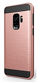 Eiroo Iron Shield Samsung Galaxy A8 Plus 2018 Ultra Koruma Rose Gold Kılıf