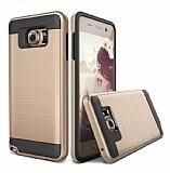 Eiroo Iron Shield Samsung Galaxy C5 Ultra Koruma Gold Kılıf