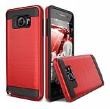Eiroo Iron Shield Samsung Galaxy C7 Pro Ultra Koruma Kırmızı Kılıf