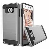 Eiroo Iron Shield Samsung Galaxy C7 Pro Ultra Koruma Silver Kılıf
