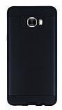 Eiroo Iron Shield Samsung Galaxy C7 SM-C7000 Ultra Koruma Siyah Kılıf