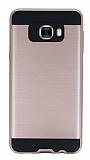 Eiroo Iron Shield Samsung Galaxy C7 SM-C7000 Ultra Koruma Rose Gold Kılıf