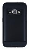 Eiroo Iron Shield Samsung Galaxy J1 2016 Ultra Koruma Siyah Kılıf