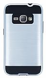 Eiroo Iron Shield Samsung Galaxy J1 2016 Ultra Koruma Silver Kılıf
