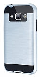 Eiroo Iron Shield Samsung Galaxy J1 Ultra Koruma Silver K�l�f