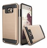 Eiroo Iron Shield Samsung Galaxy Note 5 Ultra Koruma Gold Kılıf