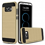 Eiroo Iron Shield Samsung Galaxy S8 Plus Ultra Koruma Gold Kılıf
