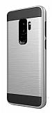 Eiroo Iron Shield Samsung Galaxy S9 Plus Ultra Koruma Silver Kılıf