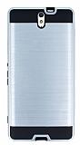 Eiroo Iron Shield Sony Xperia C5 Ultra Ultra Koruma Silver Kılıf