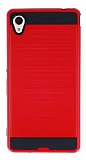 Eiroo Iron Shield Sony Xperia M4 Aqua Ultra Koruma Kırmızı Kılıf