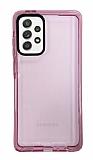 Eiroo Jelly Samsung Galaxy A52 / A52 5G Pembe Silikon Kılıf