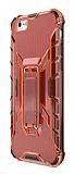 Eiroo Juno iPhone 6 / 6S Standlı Ultra Koruma Kırmızı Kılıf