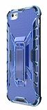 Eiroo Juno iPhone 6 / 6S Standlı Ultra Koruma Mavi Kılıf