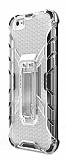 Eiroo Juno iPhone 6 / 6S Standlı Ultra Koruma Şeffaf Kılıf