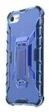 Eiroo Juno iPhone 7 / 8 Standlı Ultra Koruma Mavi Kılıf