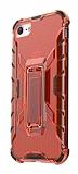 Eiroo Juno iPhone 7 / 8 Standlı Ultra Koruma Kırmızı Kılıf