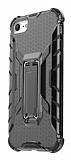 Eiroo Juno iPhone 7 / 8 Standlı Ultra Koruma Siyah Kılıf