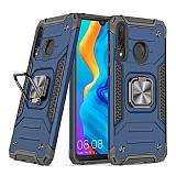 Eiroo Kickstand Huawei P30 Lite Ultra Koruma Mavi Kılıf