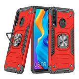 Eiroo Kickstand Huawei P30 Lite Ultra Koruma Kırmızı Kılıf