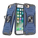 Eiroo Kickstand iPhone 7 / 8 Ultra Koruma Mavi Kılıf