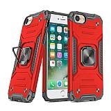 Eiroo Kickstand iPhone 7 / 8 Ultra Koruma Kırmızı Kılıf