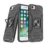 Eiroo Kickstand iPhone 7 / 8 Ultra Koruma Siyah Kılıf