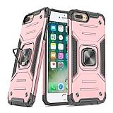 Eiroo Kickstand iPhone 7 Plus / 8 Plus Ultra Koruma Rose Gold Kılıf