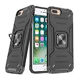 Eiroo Kickstand iPhone 7 Plus / 8 Plus Ultra Koruma Siyah Kılıf