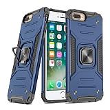 Eiroo Kickstand iPhone 7 Plus / 8 Plus Ultra Koruma Mavi Kılıf