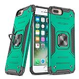 Eiroo Kickstand iPhone 7 Plus / 8 Plus Ultra Koruma Yeşil Kılıf
