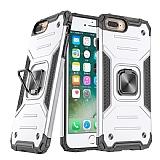Eiroo Kickstand iPhone 7 Plus / 8 Plus Ultra Koruma Beyaz Kılıf