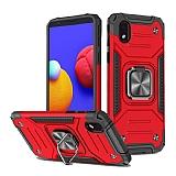 Eiroo Kickstand Samsung Galaxy A01 Core Ultra Koruma Kırmızı Kılıf