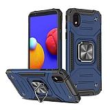 Eiroo Kickstand Samsung Galaxy A01 Core Ultra Koruma Mavi Kılıf
