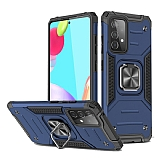 Eiroo Kickstand Samsung Galaxy A52 / Galaxy A52 5G Ultra Koruma Mavi Kılıf