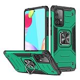 Eiroo Kickstand Samsung Galaxy A52 / Galaxy A52 5G Ultra Koruma Yeşil Kılıf