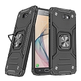 Eiroo Kickstand Samsung Galaxy J7 Prime Ultra Koruma Siyah Kılıf