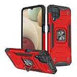 Eiroo Kickstand Samsung Galaxy M12 Ultra Koruma Kırmızı Kılıf