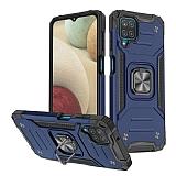 Eiroo Kickstand Samsung Galaxy M12 Ultra Koruma Mavi Kılıf