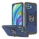 Eiroo Kickstand Oppo Reno4 Lite Ultra Koruma Mavi Kılıf