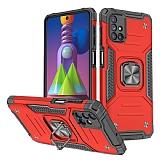 Eiroo Kickstand Samsung Galaxy M51 Ultra Koruma Kırmızı Kılıf