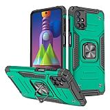 Eiroo Kickstand Samsung Galaxy M51 Ultra Koruma Yeşil Kılıf