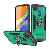 Eiroo Kickstand Xiaomi Poco C3 Ultra Koruma Yeşil Kılıf