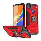 Eiroo Kickstand Xiaomi Poco C3 Ultra Koruma Kırmızı Kılıf
