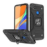 Eiroo Kickstand Xiaomi Poco C3 Ultra Koruma Siyah Kılıf