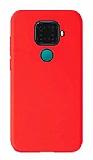 Eiroo Lansman Huawei Mate 30 Lite Kırmızı Silikon Kılıf