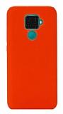 Eiroo Lansman Huawei Mate 30 Lite Turuncu Silikon Kılıf